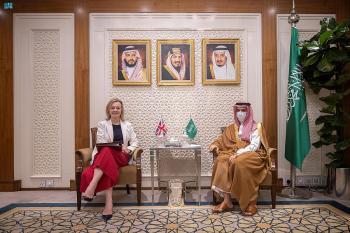 المملكة وبريطانيا تناقشان إرساء دعائم السلام بالشرق الأوسط والعالم