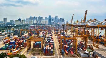 اختيار  ميناء سنغافورة أفضل ميناء في العالم