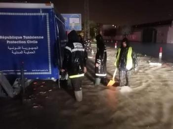 مصرع اثنين جراء السيول في تونس
