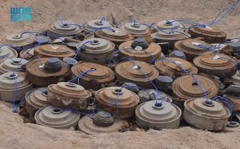 «مسام» ينتزع 4277 لغماً زرعتها مليشيا الحوثي في أكتوبر
