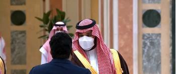 ولي العهد يستقبل القادة المشاركين في مبادرة الشرق الأوسط الأخضر
