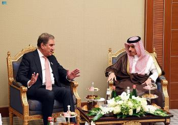وزير الخارجية يستقبل نظيره الباكستاني