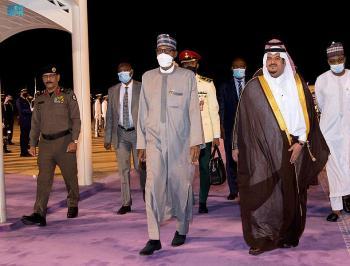 رئيس نيجيريا يصل الرياض للمشاركة في مبادرة مستقبل الاستثمار