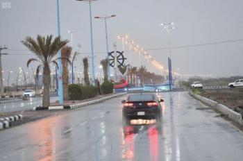 أمطار ورياح على جازان حتى السابعة مساء
